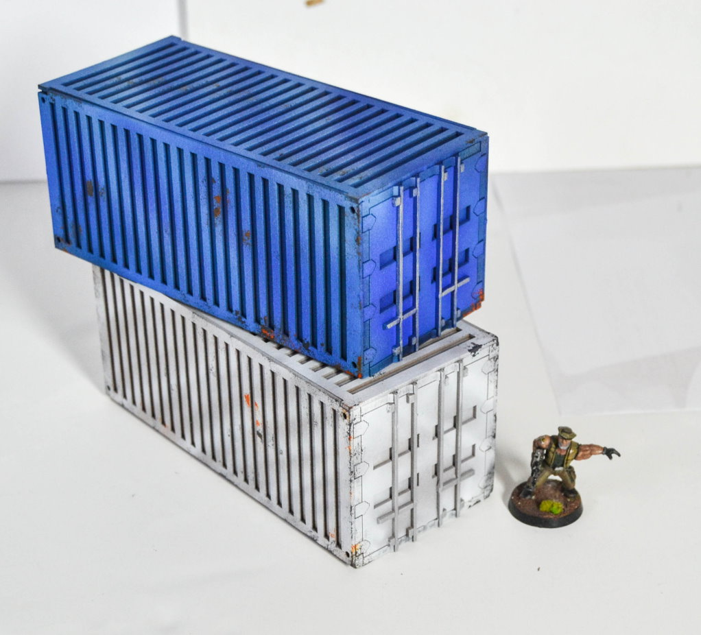 Gasland x9 Shipping Freight Container Wargame Scenery 20mm scale